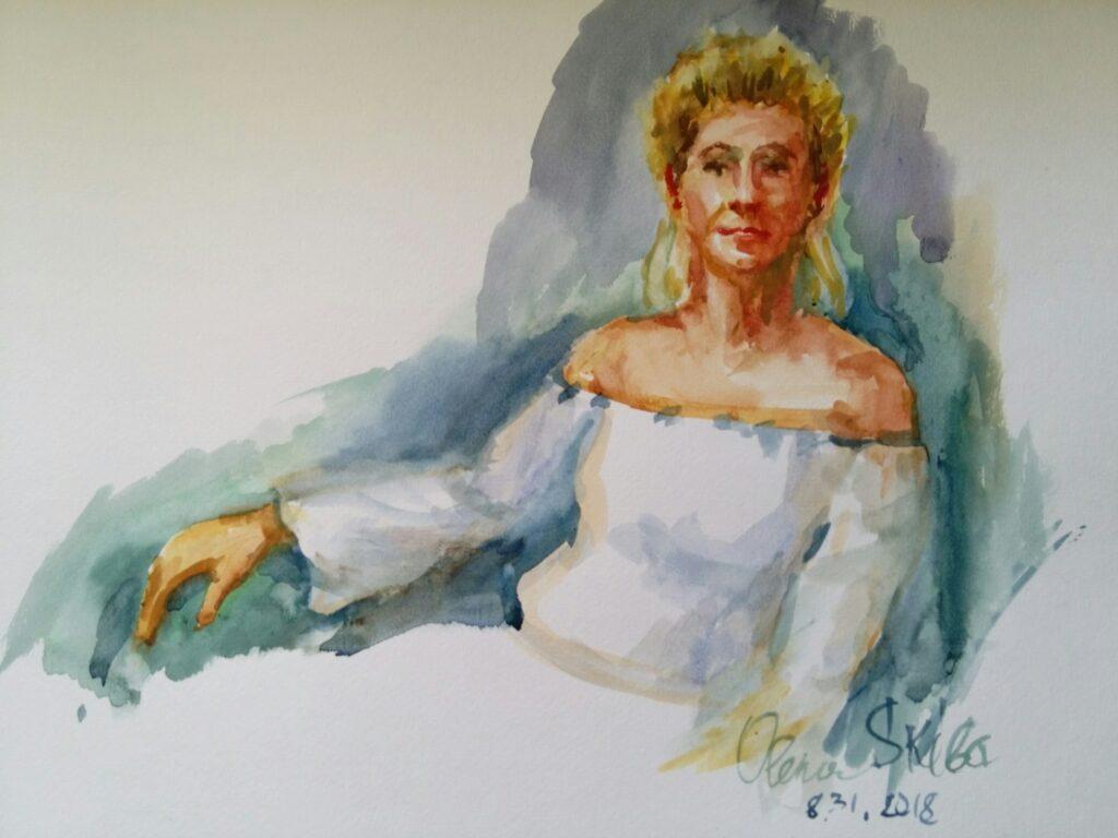 watercolor 19 x 20